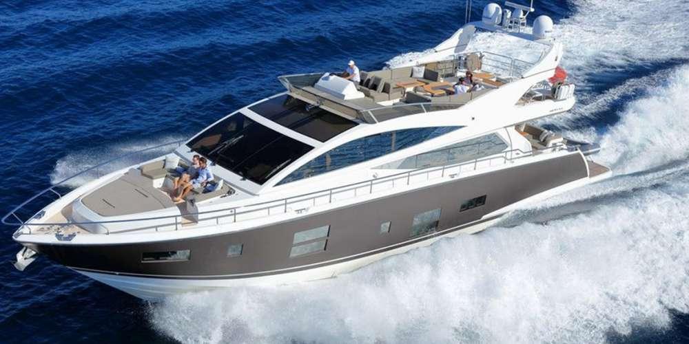 Vue du ciel du yacht summer breeze 1