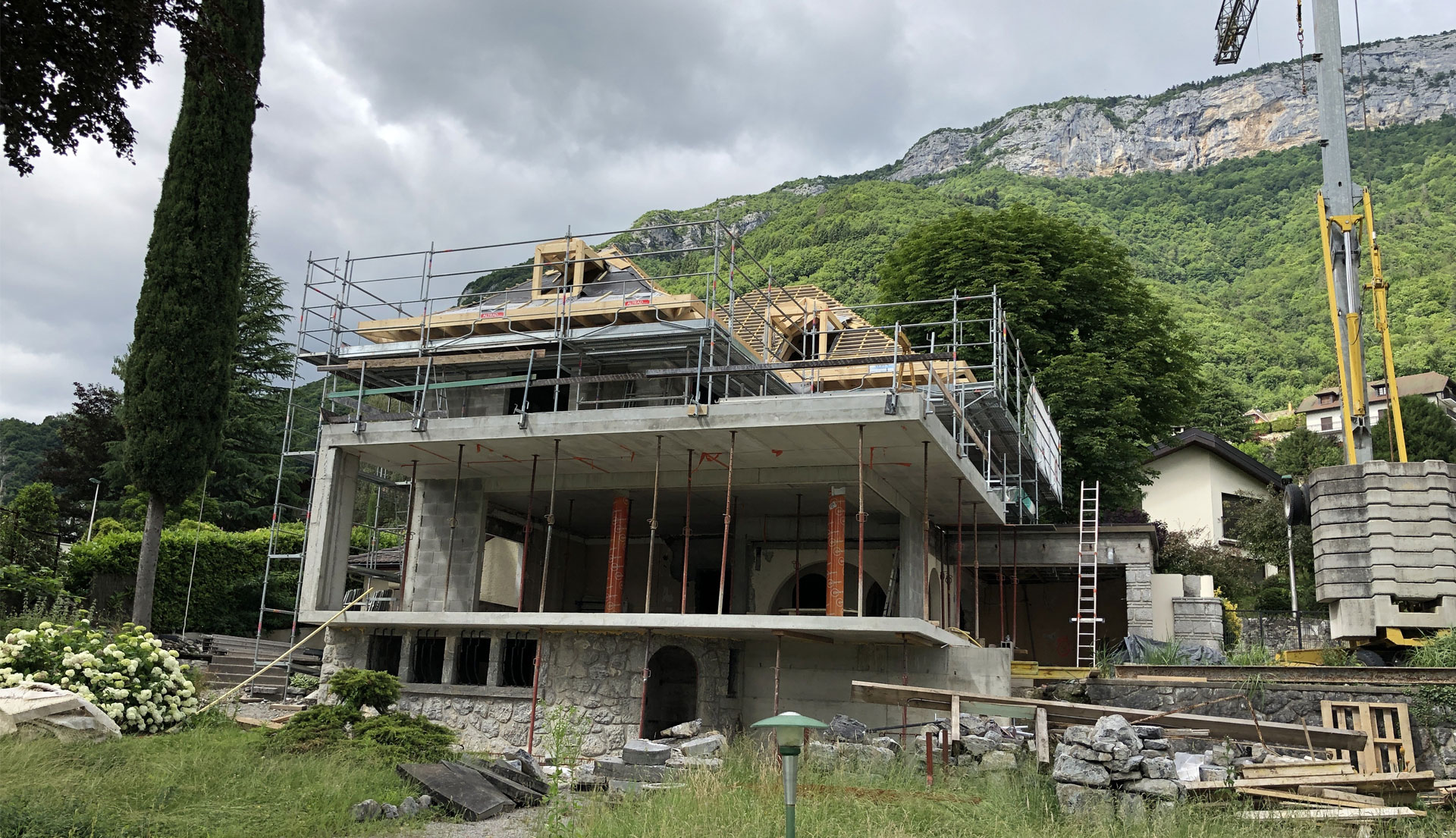 End of work on our villa in Veyrier-du-Lac 2