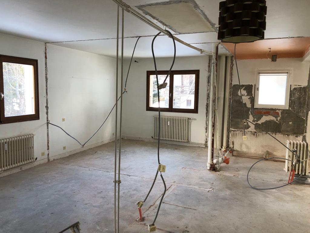 Megève, rénovation d'un appartement 7