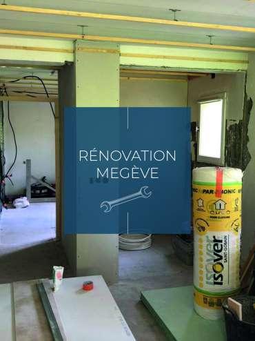 Megève, rénovation d'un appartement
